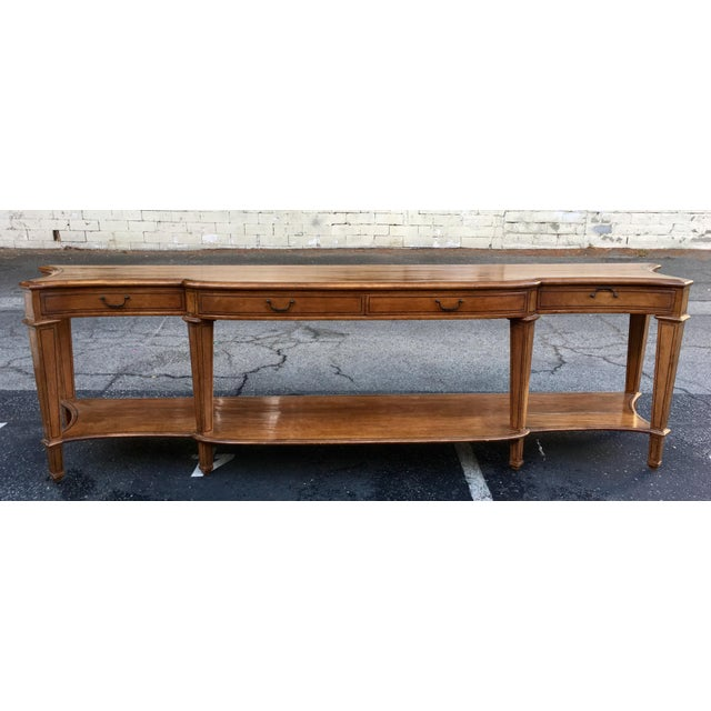 Spectacular Huge Georgian Style Walnut Console or Sofa Table For Sale - Image 5 of 5