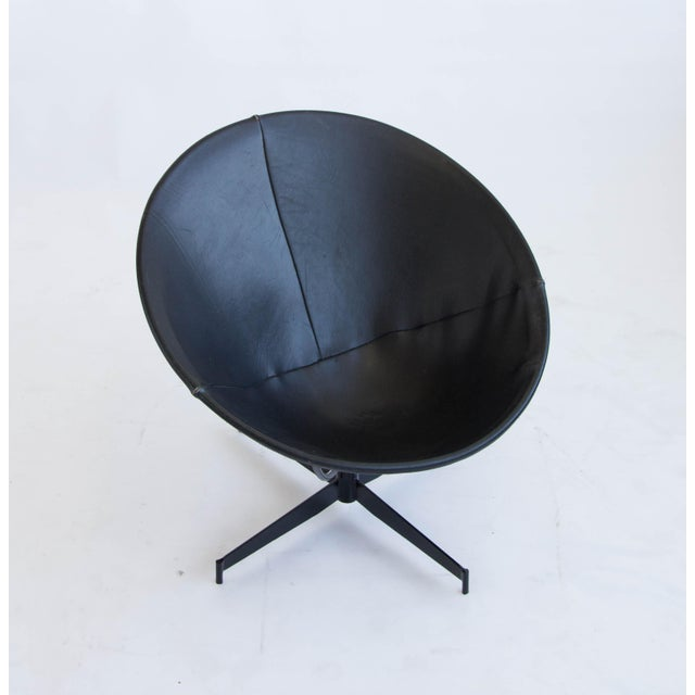 Leather Bucket Chairs by William Katavolos - Pair - Image 8 of 9