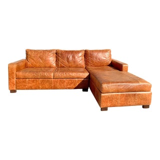 1970s Vintage Italian Leather Sectional Sofa For Sale