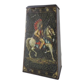 Victory English Biscuit Tin Horses Native American & Bedouin For Sale