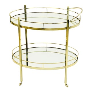 Contemporary Brass Wine/Tea Cart