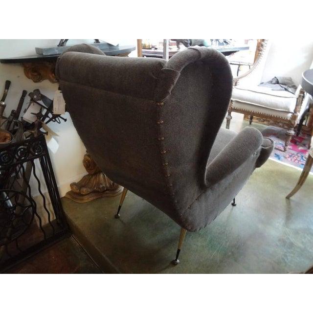 Italian Circa 1960 Mid-Century Italian Gio Ponti Inspired Lounge Chairs - A Pair For Sale - Image 3 of 9