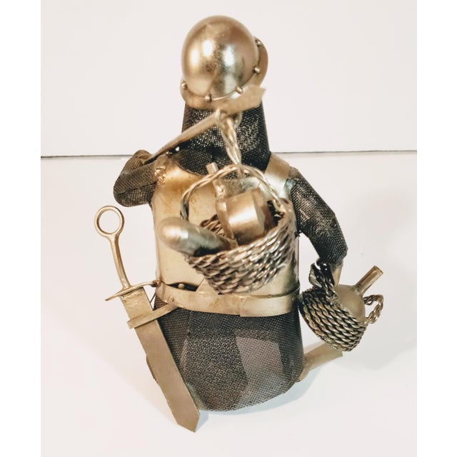 Mid 20th Century Vintage Metal Knight Figurines - Set of 3 For Sale - Image 5 of 13