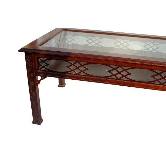 Brown Kindel Glass Display/Shadowbox Coffee Table For Sale - Image 8 of 11