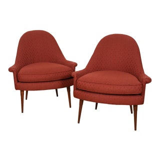 Pair of Paul McCobb Style Accent / Club Chairs For Sale