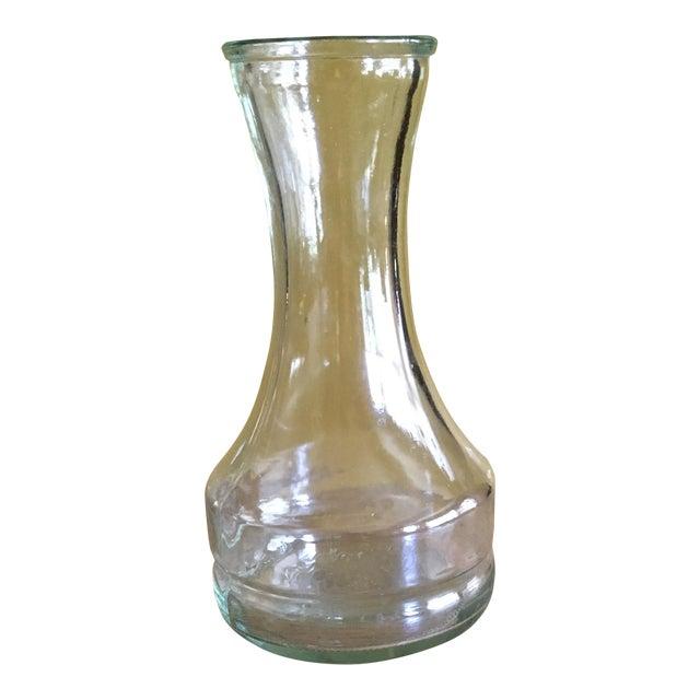 Vintage Clear Glass Vase - Image 1 of 4