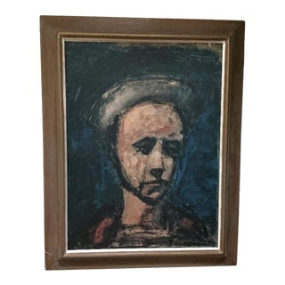Mid-Century George Rouault Self Portrait Workmans Apprentice Print, Framed For Sale