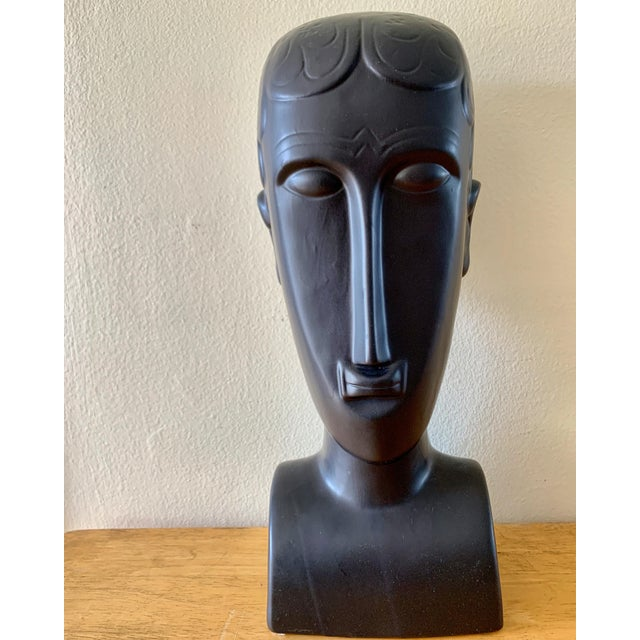 Elongated Ceramic Head Bust Decor Head For Sale - Image 13 of 13