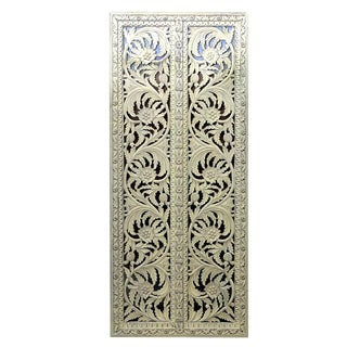 Anglo Indian Painted Door Panel For Sale