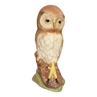 Vintage Staffordshire Porcelain Owl For Sale