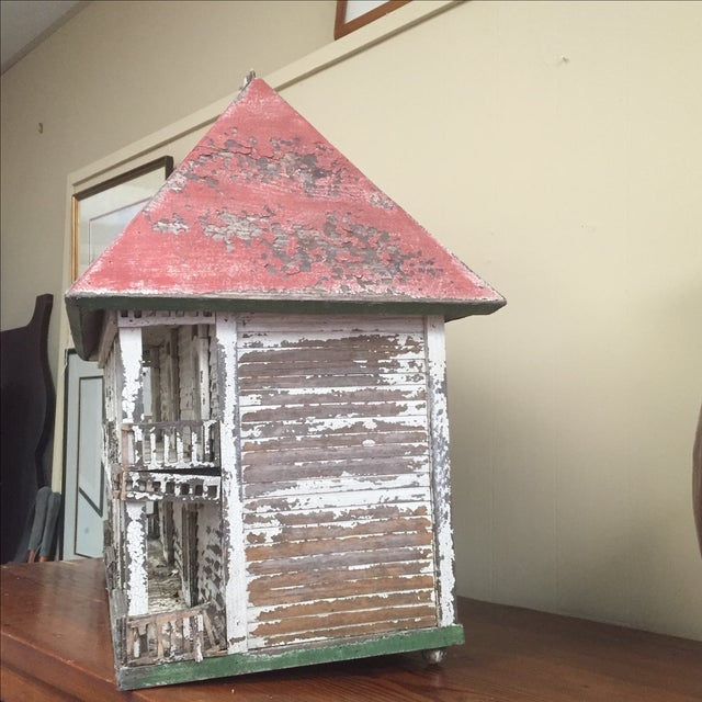 Folk Art Bird House - Image 3 of 6