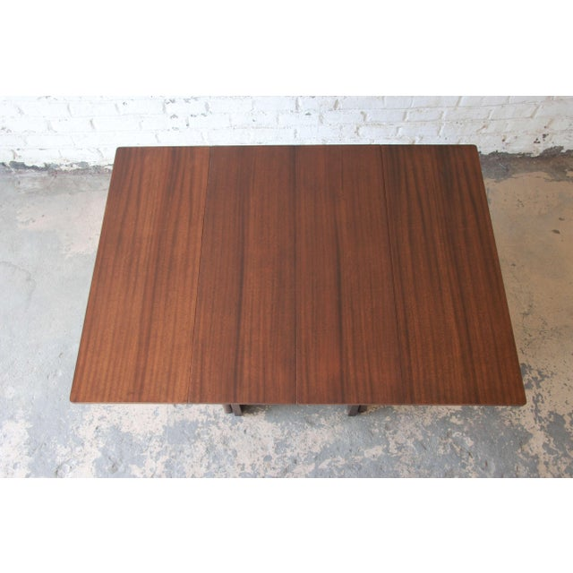 Brown Large Edward Wormley for Dunbar Mahogany Extension Dining Table For Sale - Image 8 of 13