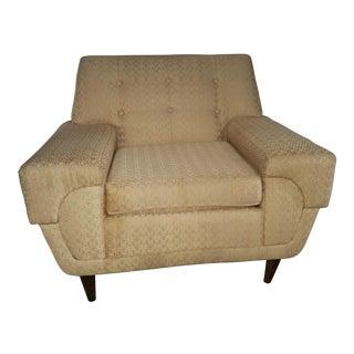 Mid-Century Modern Tuxedo Style Club Chair