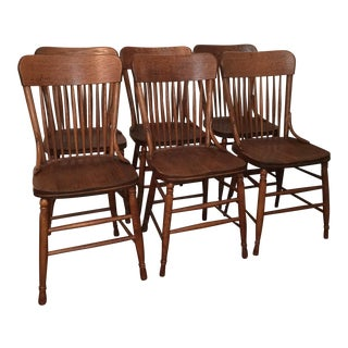 Oak Dining Chairs - Set of 6