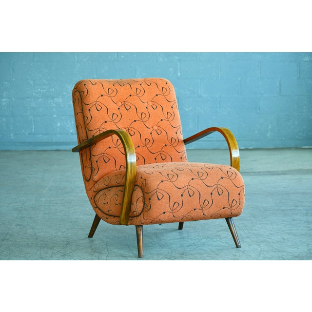 Paolo Buffa Style Midcentury Italian Lounge Chair For Sale - Image 9 of 9