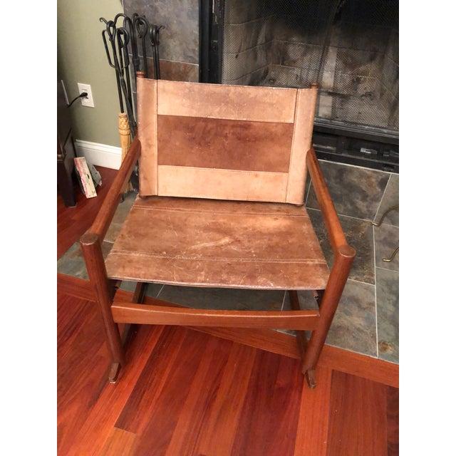 1950s Vintage Michael Arnoult Sling Chair Rocker For Sale - Image 9 of 12