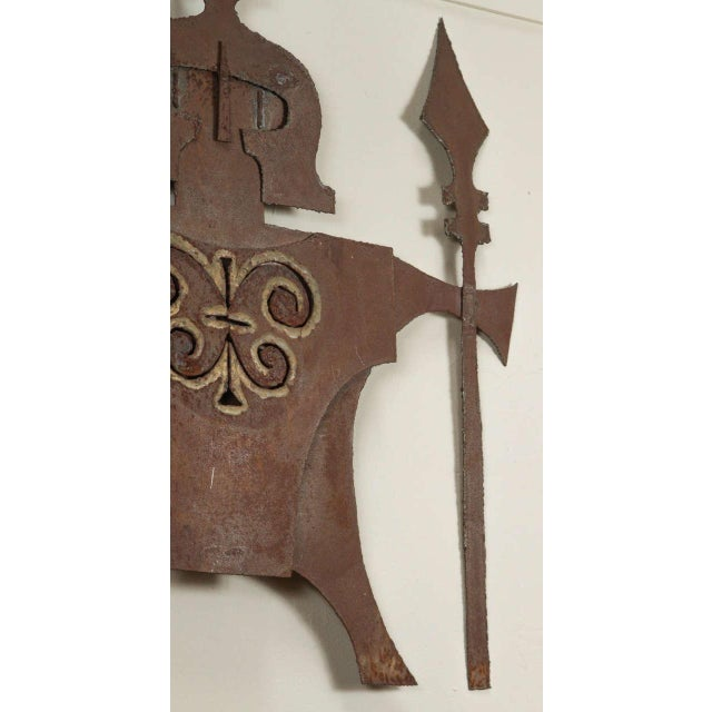 Metal Gladiator Wall Sculpture For Sale - Image 5 of 6