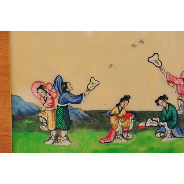 Chinese Antique Rice Paper Painting For Sale - Image 4 of 7