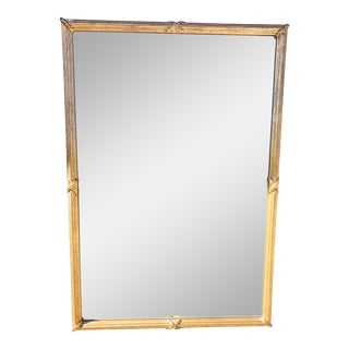 1950s Large Gold Leaf Framed Mirror For Sale