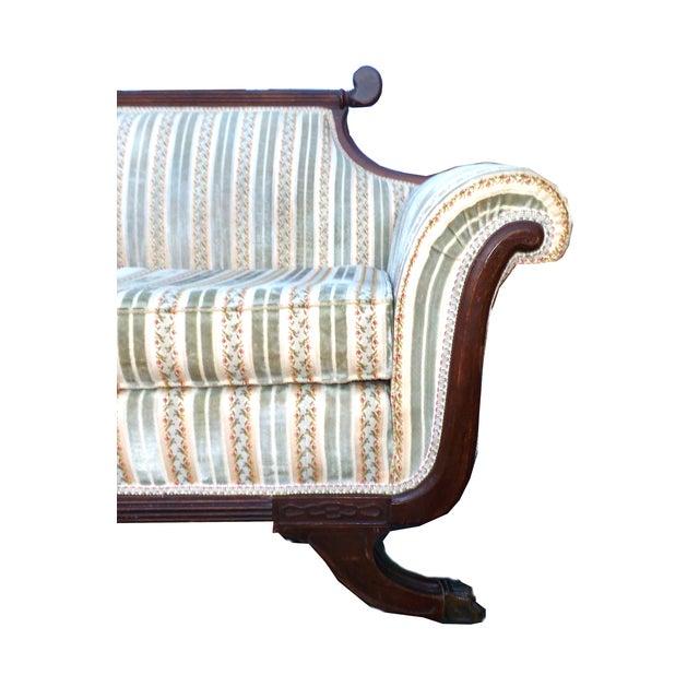 Hollywood Regency American Empire Ornate Sofa - Image 5 of 8