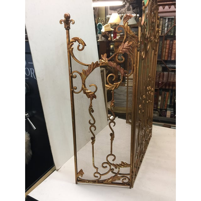 Ornate Fireplace Screen For Sale - Image 11 of 12
