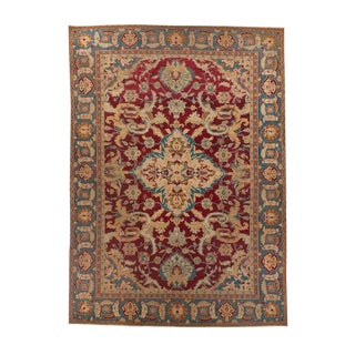 Red Ground Agra Medallion Carpet For Sale