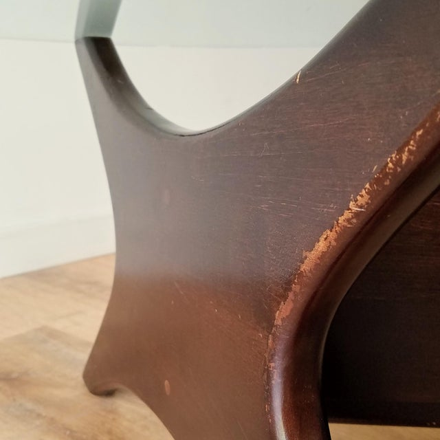 1960s Adrian Pearsall Model 1465-T Boomerang Walnut Coffee Table, Unmarked For Sale In Seattle - Image 6 of 13