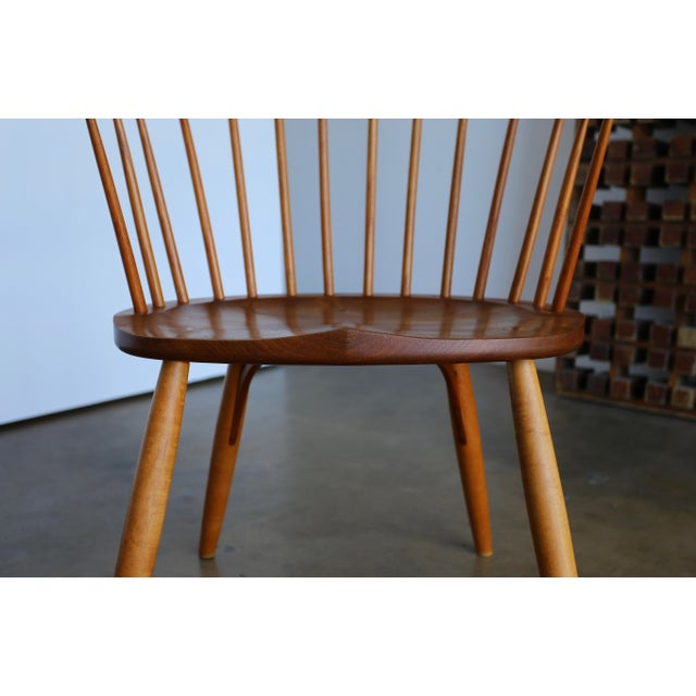 Mid Century John Onstine Handcrafted Continuous Armchair For Sale - Image 4 of 10