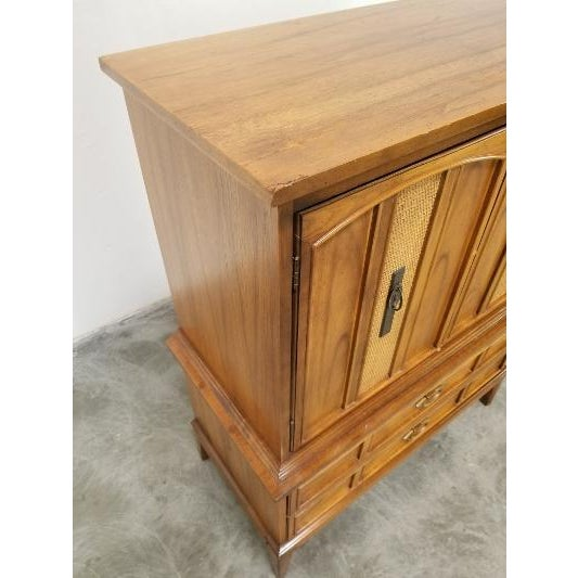 Wood 1960s Dixie Mid-Century Highboy Dresser For Sale - Image 7 of 13