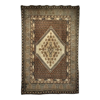 """Vintage Moroccan Tribal Carpet With Oushak Design - 5'6"""" X 8'3"""" For Sale"""