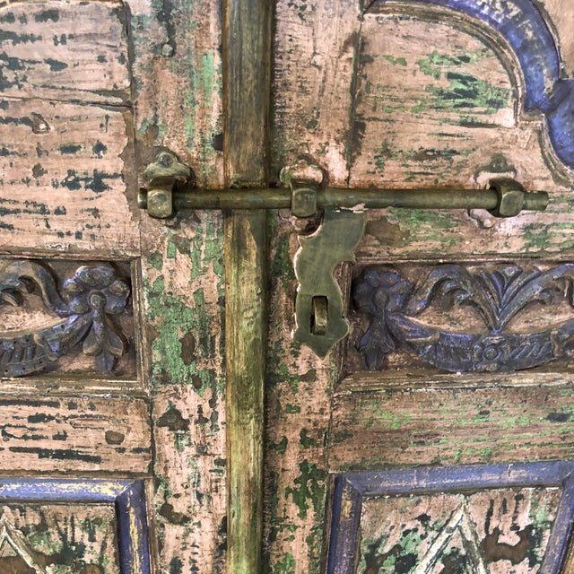 Antique Rustic Large Wood Armoire - Image 4 of 6