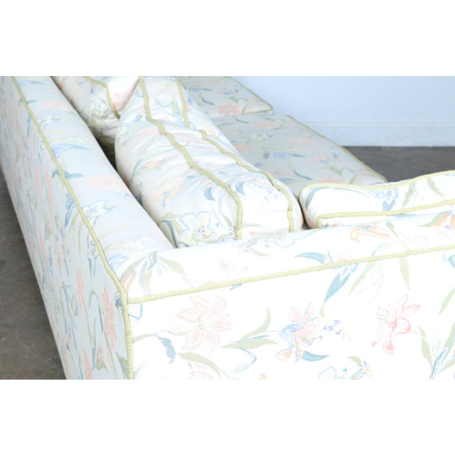 Mid-Century Modern Floral Sofa - Image 6 of 10