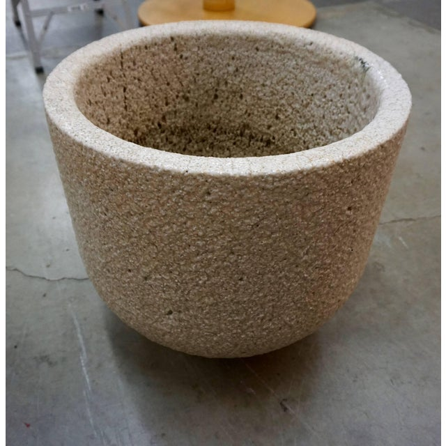 Mid-Century Modern Ceramic and Glass Crucible or Planter For Sale - Image 3 of 8