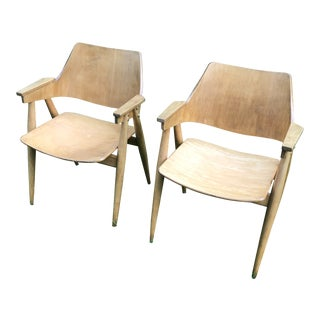 Thonet Modern Bentwood Plywood Armchairs - a Pair For Sale
