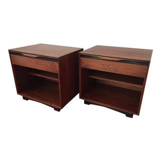 Glenn of California Walnut Nightstands - a Pair For Sale