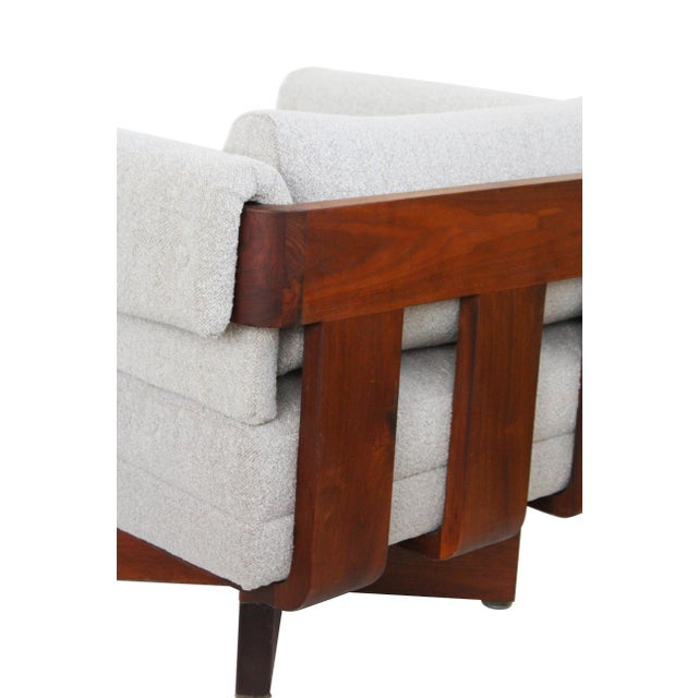 Mid-Century Solid Walnut X-Base Chairs - A Pair - Image 5 of 10