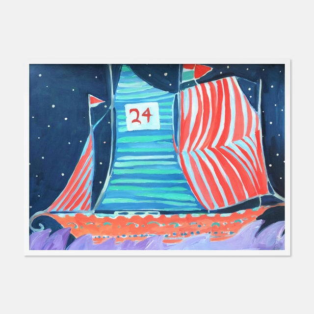 SB Wax Cay by Lulu DK in White Framed Paper, Medium Art Print For Sale - Image 4 of 4