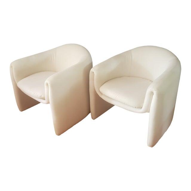 1980s Vintage Vladimir Kagan Sculptural Arm Chairs- A Pair For Sale
