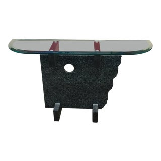 Modern Granite Console Table For Sale