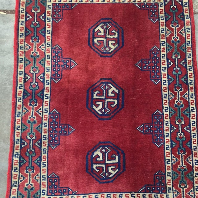 Turkaman Red Persian Rug - 2′2″ × 3′1″ - Image 3 of 8
