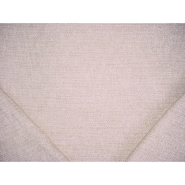 Traditional Osborne Little Vence Ivory Textured Chenille Upholstery Fabric- 3-1/2 Yards For Sale - Image 3 of 6