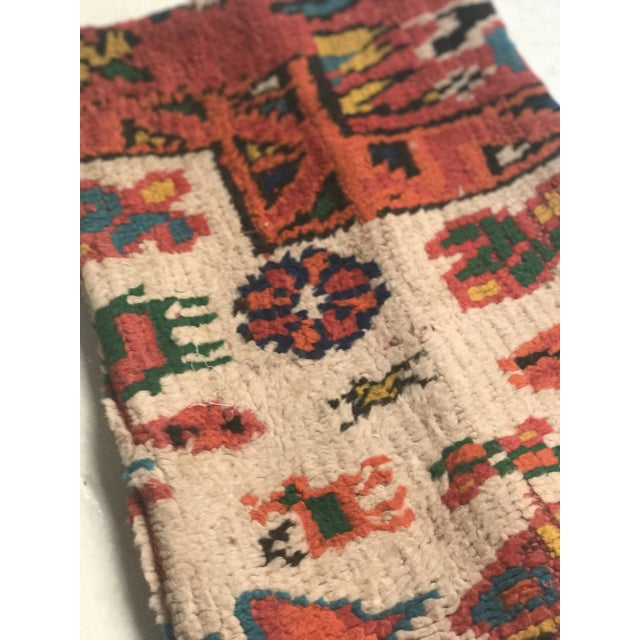 Vintage Moroccan Rug Wool Pillow - Image 6 of 11