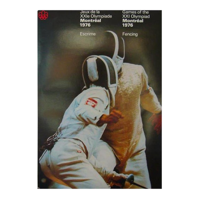1976 Montreal Olympics Fencing Poster For Sale