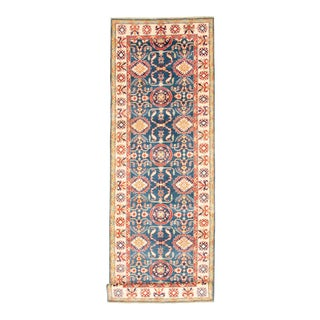 Hand-Knotted Wool Runner For Sale