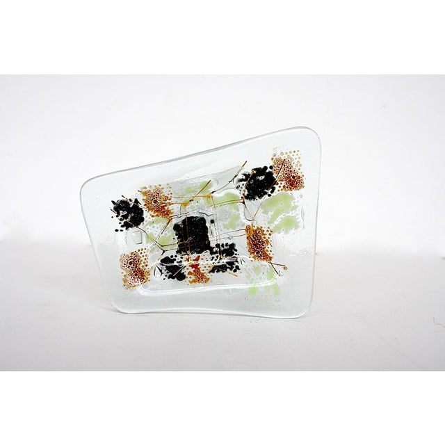Brown Vintage Higgins Glass Mid Century Modern Ashtray For Sale - Image 8 of 8