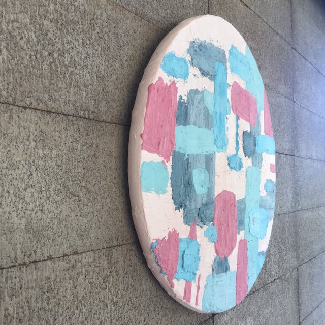 2010s Pine Disc & Plaster Abstract Painting For Sale - Image 5 of 10