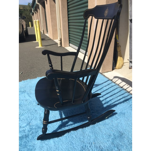 Astounding U S Naval Academy Captains Wood Rocking Chair Dailytribune Chair Design For Home Dailytribuneorg