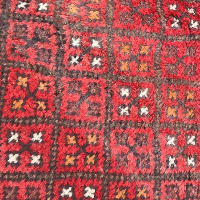 """Textile Patterned Afghan Wool Rug - 3'6"""" X 5'8"""" For Sale - Image 7 of 13"""