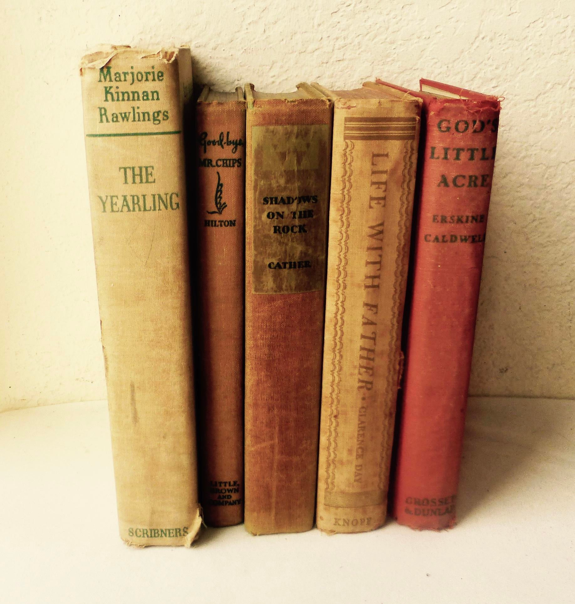1930s Distressed Popular Books Set Of 5 Chairish