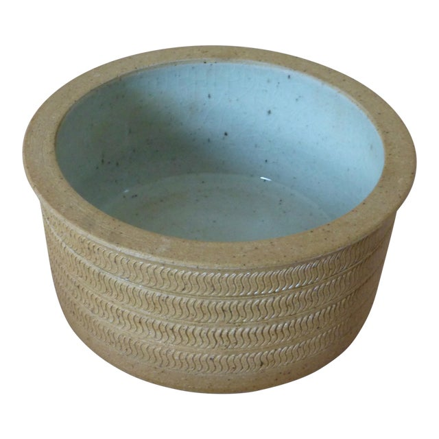 Mid Century Dansk Pottery Bowl by Niels Refsgaard For Sale